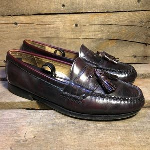Cole Haan Men's Brown Leather Penny Loafers